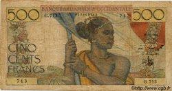 500 Francs type 1943 AFRIQUE OCCIDENTALE FRANÇAISE (1895-1958)  1950 P.41 B+
