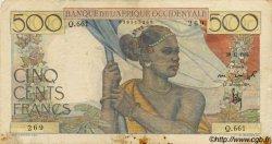 500 Francs type 1943 AFRIQUE OCCIDENTALE FRANÇAISE (1895-1958)  1950 P.41 TTB