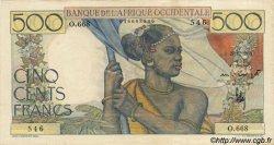 500 Francs type 1943 AFRIQUE OCCIDENTALE FRANÇAISE (1895-1958)  1950 P.41 SUP