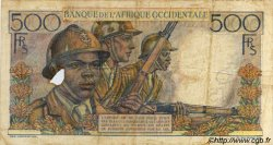 500 Francs AFRIQUE OCCIDENTALE FRANÇAISE (1895-1958)  1951 P.41 B+