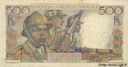 500 Francs type 1943 AFRIQUE OCCIDENTALE FRANÇAISE (1895-1958)  1953 P.41 TB