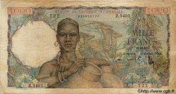 1000 Francs type 1945 AFRIQUE OCCIDENTALE FRANÇAISE (1895-1958)  1950 P.42 B+