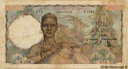 1000 Francs type 1945 AFRIQUE OCCIDENTALE FRANÇAISE (1895-1958)  1951 P.42 B+