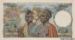 5000 Francs type 1946 AFRIQUE OCCIDENTALE FRANÇAISE (1895-1958)  1947 P.43s SPL+