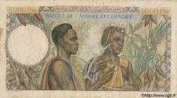 5000 Francs type 1946 AFRIQUE OCCIDENTALE FRANÇAISE (1895-1958)  1948 P.43 TB