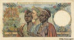 5000 Francs type 1946 AFRIQUE OCCIDENTALE FRANÇAISE (1895-1958)  1948 P.43 TTB+