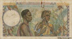 5000 Francs type 1946 AFRIQUE OCCIDENTALE FRANÇAISE (1895-1958)  1950 P.43 B+