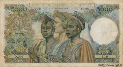 5000 Francs type 1946 AFRIQUE OCCIDENTALE FRANÇAISE (1895-1958)  1950 P.43 TB