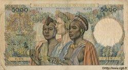 5000 Francs type 1946 AFRIQUE OCCIDENTALE FRANÇAISE (1895-1958)  1950 P.43 TB+