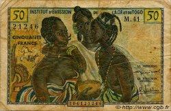 50 Francs type 1956 TOGO  1956 P.45 TB