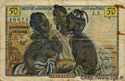 50 Francs type 1956 TOGO  1956 P.45 TB+