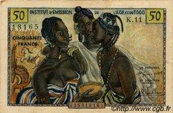 50 Francs type 1956 TOGO  1956 P.45 TTB