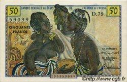 50 Francs type 1956, modifié 1960 AFRIQUE OCCIDENTALE FRANÇAISE (1895-1958)  1960 P.001 SUP+