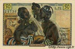 50 Francs type 1956, modifié 1960 AFRIQUE OCCIDENTALE FRANÇAISE (1895-1958)  1960 P.001 pr.NEUF