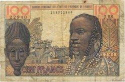 100 Francs type 1956 modifié 1960 AFRIQUE OCCIDENTALE FRANÇAISE (1895-1958)  1959 P.002a B
