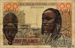 100 Francs type 1956 modifié 1960 BURKINA FASO  1961 P.301Cc pr.TB