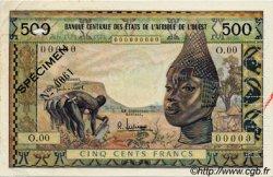 500 Francs type 1957, modifié 1959 AFRIQUE OCCIDENTALE FRANÇAISE (1895-1958)  1959 P.003s TTB à SUP