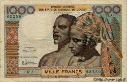 1000 Francs type 1960 AFRIQUE OCCIDENTALE FRANÇAISE (1895-1958)  1959 P.004 B+