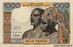 1000 Francs type 1960 AFRIQUE OCCIDENTALE FRANÇAISE (1895-1958)  1959 P.004 TB