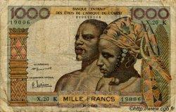 1000 Francs type 1960 SÉNÉGAL  1961 P.703Kb B+