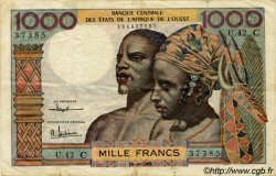 1000 Francs type 1960 BURKINA FASO  1961 P.303Cd TTB