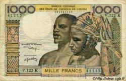 1000 Francs type 1960 SÉNÉGAL  1974 P.703Kl pr.TB