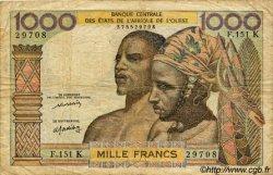 1000 Francs type 1960 SÉNÉGAL  1977 P.703Km B+