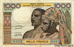 1000 Francs type 1960 SÉNÉGAL  1977 P.703Km TB à TTB