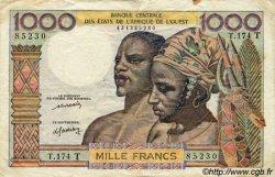 1000 Francs type 1960 TOGO  1977 P.803Tm TB+