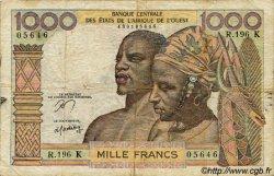 1000 Francs type 1960 SÉNÉGAL  1977 P.703Kn B