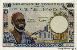 5000 Francs type 1960 AFRIQUE OCCIDENTALE FRANÇAISE (1895-1958)  1959 P.005s pr.SPL