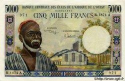 5000 Francs type 1960 ÉTATS DE L