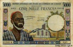 5000 Francs type 1960 SÉNÉGAL  1977 P.704Km TB+