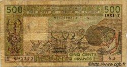 500 Francs type 1980 TOGO  1981 P.806Tb B