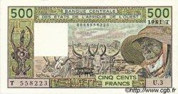 500 Francs type 1980 TOGO  1981 P.806Tb pr.NEUF