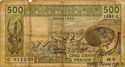 500 Francs type 1980 BURKINA FASO  1981 P.306Cc B