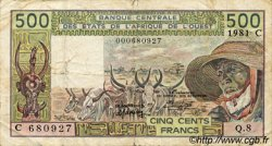 500 Francs type 1980 BURKINA FASO  1981 P.306Cc pr.TB