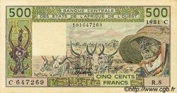 500 Francs type 1980 BURKINA FASO  1981 P.306Cc pr.SUP