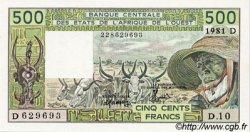 500 Francs type 1980 MALI  1981 P.405Dc pr.NEUF