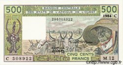 500 Francs type 1980 BURKINA FASO  1984 P.306Ch NEUF