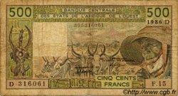 500 Francs type 1980 MALI  1986 P.405Df B