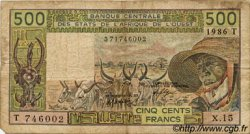 500 Francs type 1980 TOGO  1986 P.806Ti B