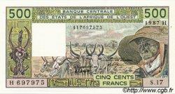 500 Francs type 1980 NIGER  1987 P.606Hj pr.NEUF