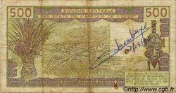500 Francs type 1980 SÉNÉGAL  1987 P.706Kj B+ à TB