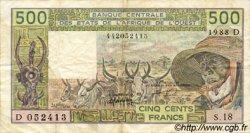 500 Francs type 1980 MALI  1988 P.405Da TTB