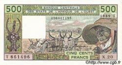 500 Francs type 1980 TOGO  1989 P.806Tk pr.NEUF