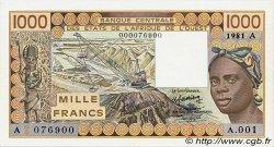 1000 Francs type 1977 COTE D