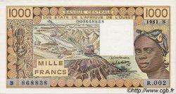 1000 Francs type 1977 BÉNIN  1981 P.207Bb pr.NEUF