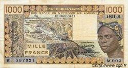 1000 Francs type 1977 NIGER  1981 P.607Hb TTB