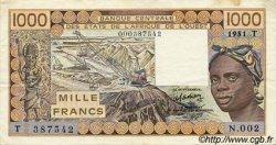 1000 Francs type 1977 TOGO  1981 P.807Tb TTB